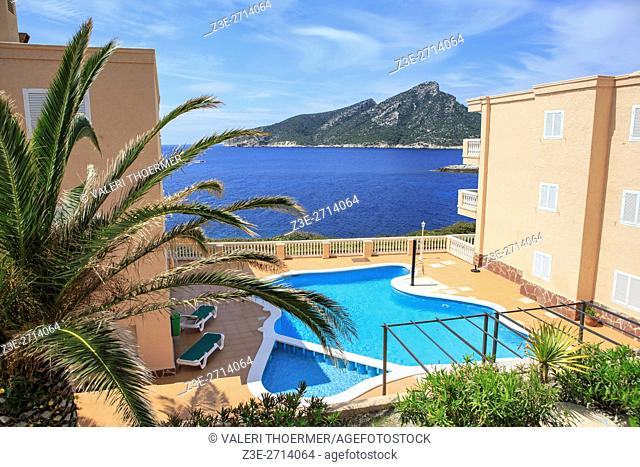 The coast of Mallorca Island, the Balearic Islands in the Mediterranean Sea, Spain
