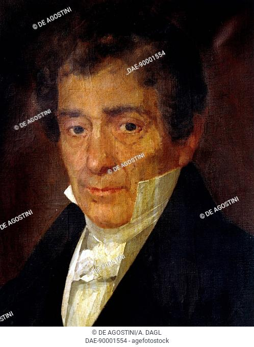 Portrait of Luigi Cherubini (Florence, 1760-Paris, 1842), Italian composer. Painting by Achille Vitozzi (Naples, 1848-?), oil on canvas, 71x53 cm