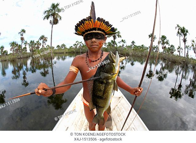 Xingu indians in the Amazone, Brazil