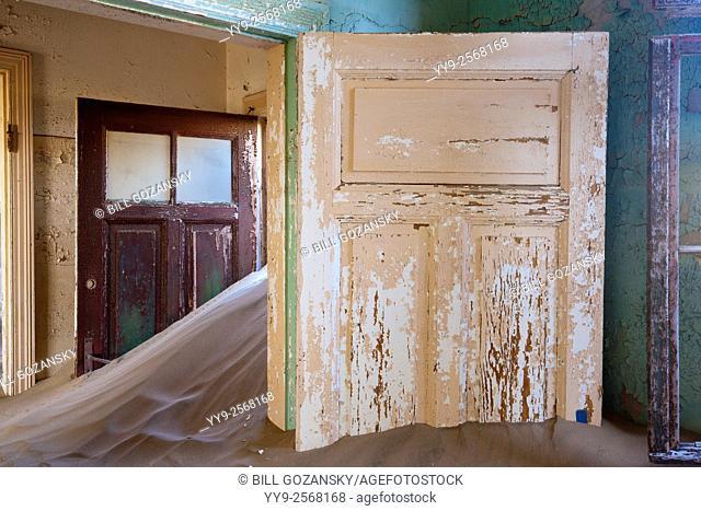 Doorway in Kolmanskop Ghost Town - Luderitz, Namibia, Africa