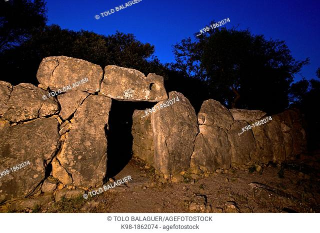 Archaeological site of Ses Païsses, wall inlet 1000-800 BC Arta Mallorca Balearic Islands Spain