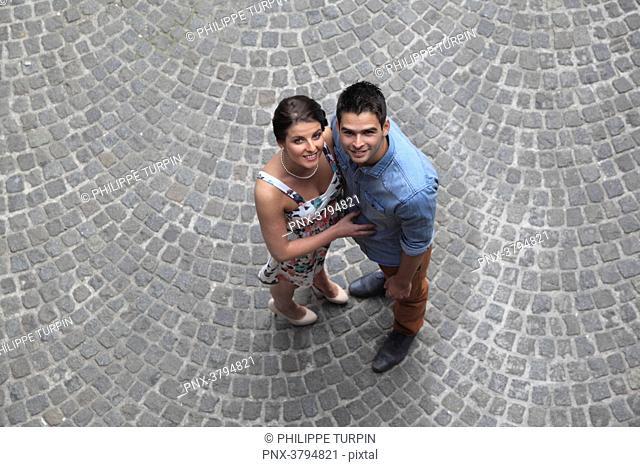 Belgium, couple in Brugge