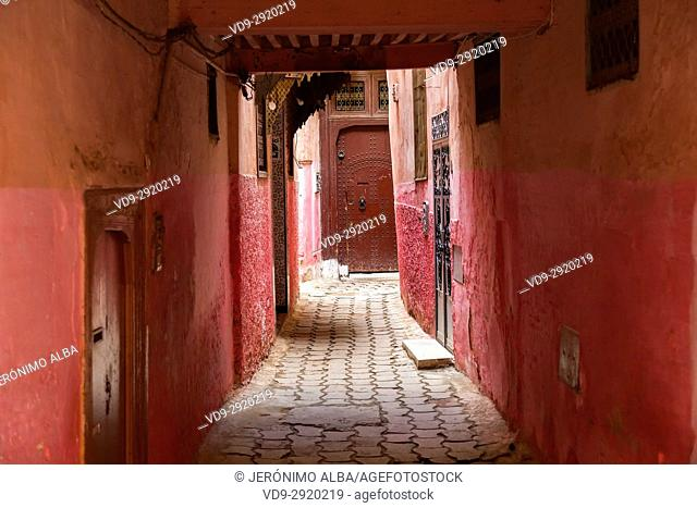 Street life scene. Imperial city Meknes, Morocco, Maghreb North Africa