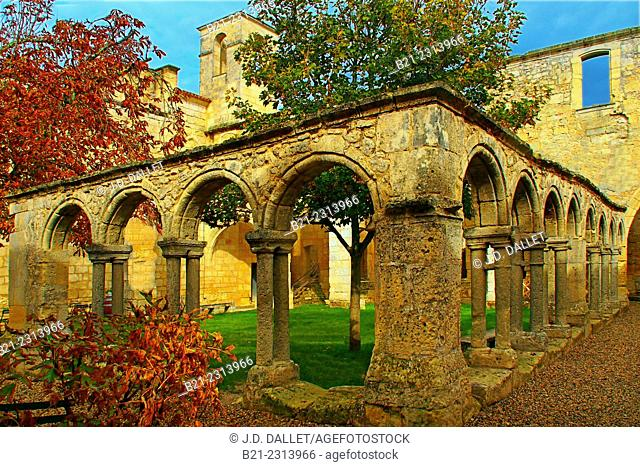 Cordeliers Cloister, Saint-Emilion, Gironde, Aquitaine, France