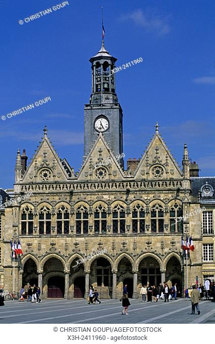 City Hall of Saint-Quentin, Aisne department, Picardy region, northern France, Europe