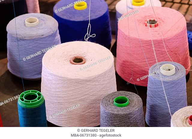 Reels of thread, close up
