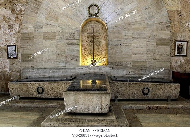 Tombs of national heroes in the Panteon Nacional located in the city of Santo Domingo in the Dominican Republic. The Panteon Nacional was constructed between...