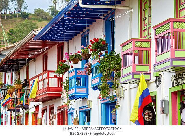 Calle Real, Salento, Quindio, Colombia, South America