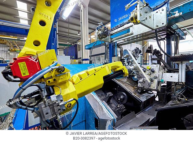 Robot, Automotive parts, Metallurgical industry, Gipuzkoa, Basque Country, Spain, Europe