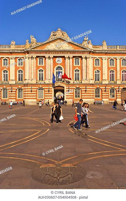 France, Toulouse, [City Hall], The Capitol, Occitan cross, Place du Capitol