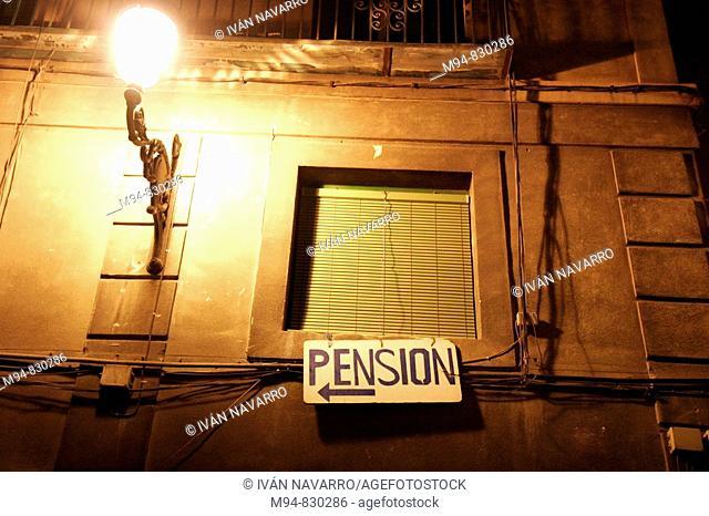 Cartel de una pension