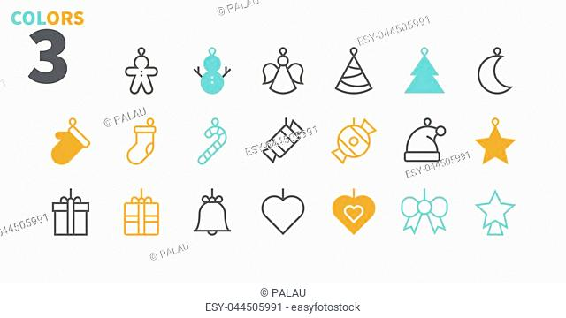 Toys on the Christmas tree Pixel Perfect icons Well-crafted Vector Thin Line Icons 48x48 Ready for 24x24 Grid for Web Graphics and Apps