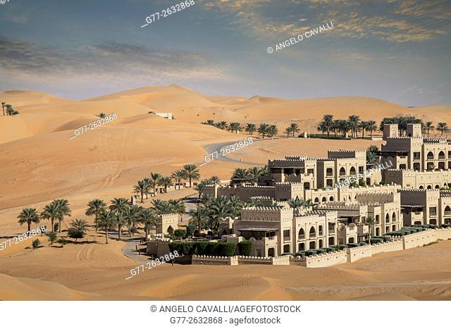 The Luxury resort Qasr Al Sarab, of the Anantara group, empty quarter desert, Abu Dhabi, United Arab Emirates