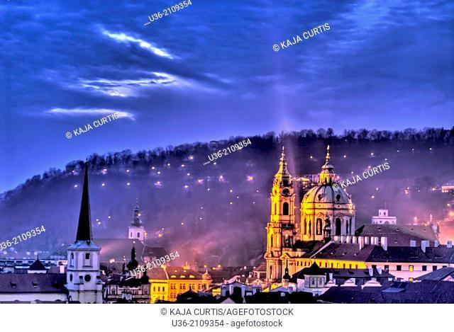 St Nicholas Church Lesser Town Prague Czech Republic