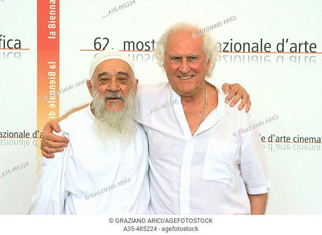 62nd Venice Film 'Festival (07/09/05): Film 'La dignidad de los nadies' - director Fernando E. Solanas with Fernando Birri