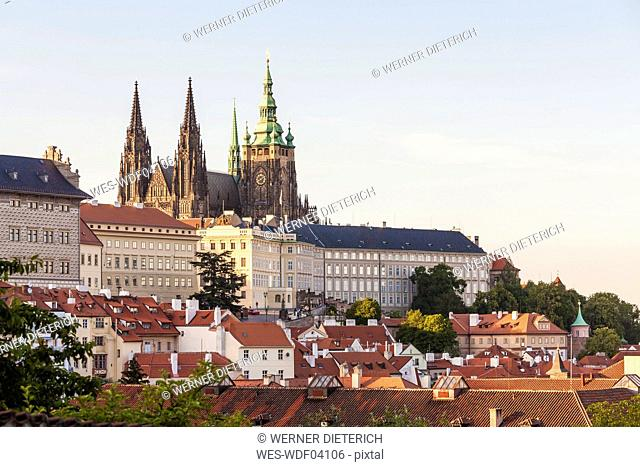 Czech Republic, Prague, Mala Strana, Hradcany, Castle and St Vitus Cathedral