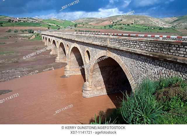 Morocco Atlantic Coast Dar-Tahar-ben-Abbou Bridge across Oued Tensift on N1 highway between Safi and Essaouira