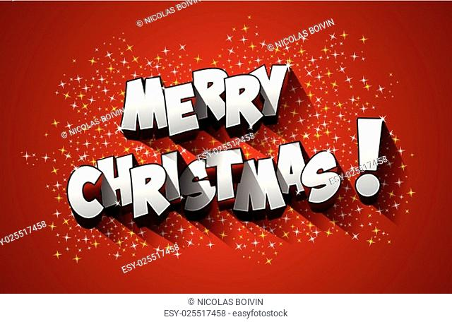 Merry Christmas celebration greeting card design vector illustration