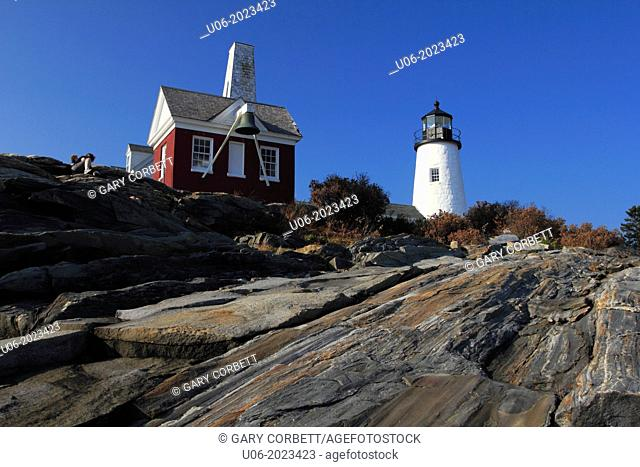 Pemaquid Point Lighthouse station at Bristol Maine USA