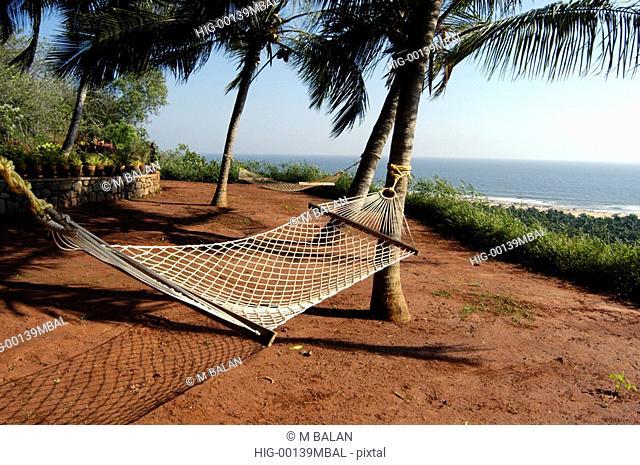 HAMMOCKS BY THE SIDE OF BEACH, KOVALAM, TRIVANDRUM