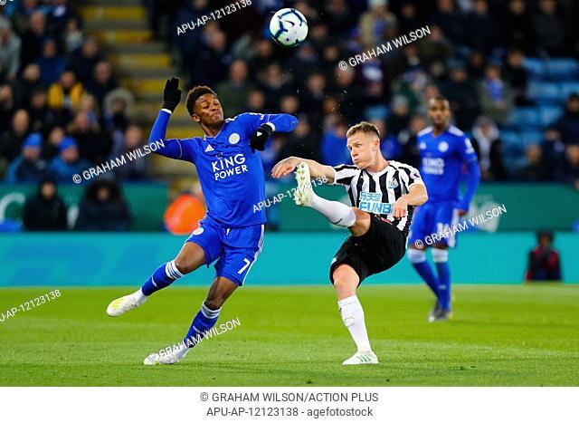 2019 EPL Premier League Football Leicester City v Newcastle Utd Apr 12th. 12th April 2019, King Power Stadium, Leicester, England; EPL Premier League Football