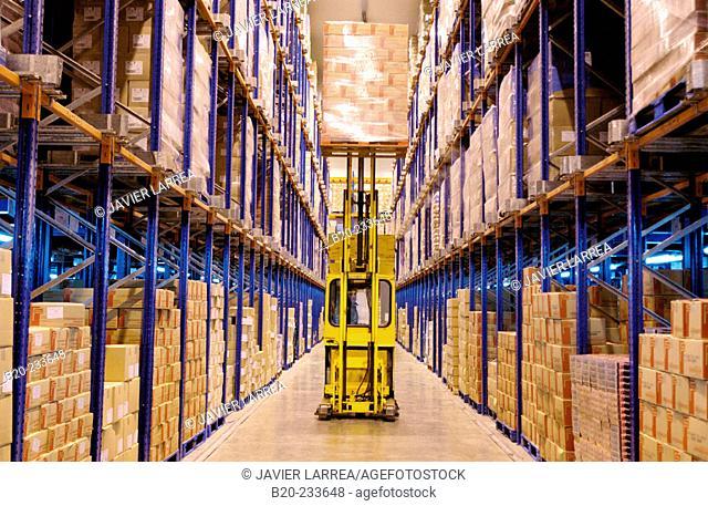 Frozen food industry, cold-storage area. Navarre. Spain