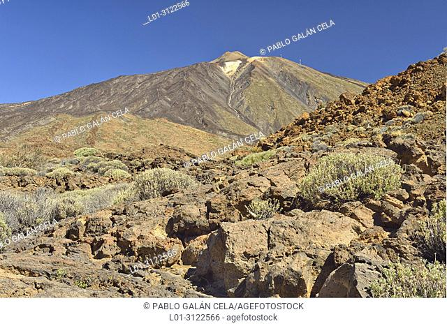 Teide volcano, Cañadas del Teide National Park, Tenerife, Canary Islands, Spain