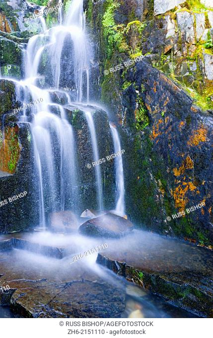 Cascade on Sunbeam Creek, Mount Rainier National Park, Washington USA