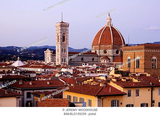 Duomo Cathedral in Florence cityscape, Tuscany, Italy