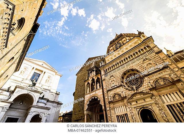 Santa Maria Maggiore church and Colleoni chapel Citta Vecchia Bergamo Italy