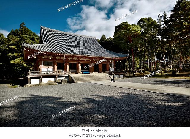 Kondo, central hall of Shimo-Daigo part of Daigoji complex, Daigo-ji temple, Shingon Buddhist temple in Fushimi-ku, Kyoto, Japan 2017