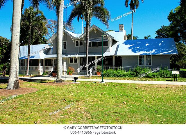Exterior of the Henry Ford house at Ft. Myers, Florida,USA