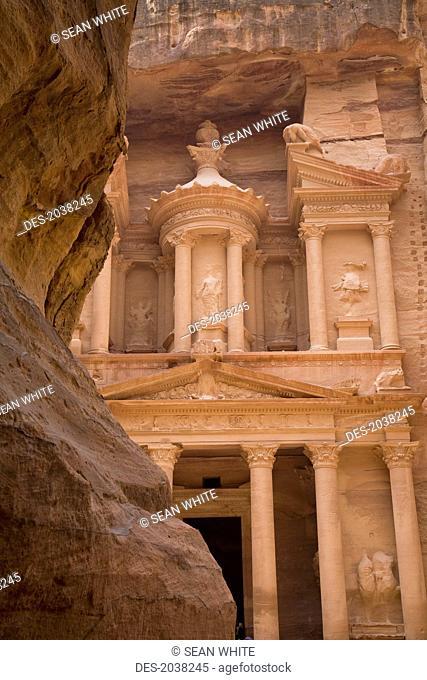 The Treasury In The Nabatean City, Petra Jordan