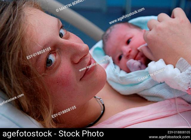 Anne nach der Geburt