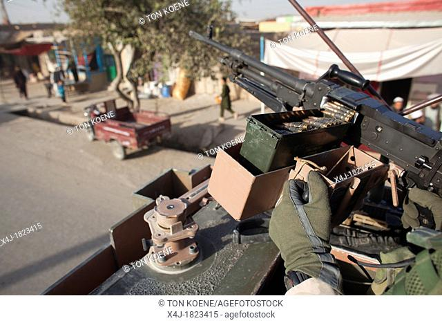 Dutch military on patrol in Kunduz province, afghanistan