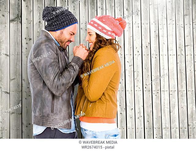 Romantic couple having fun together