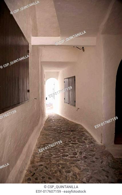 white corridor of Binibeca