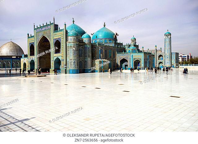 Shrine of Ali (Blue Mosque) in Mazar-i Sharif, Afghanistan