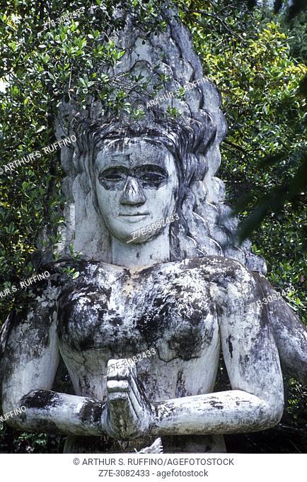 Sculpture in Buddha Park, Xieng Khuan, Vientiane, Laos