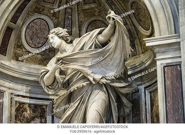 The shrine of Saint Veronica in the Basilica di San Pietro -, Rome, Italy
