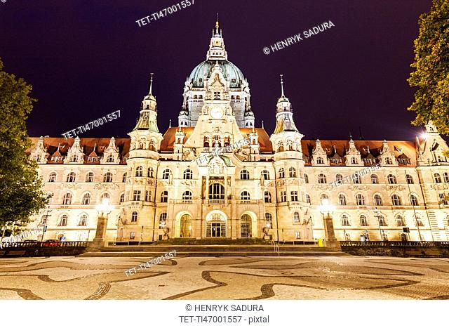 New Town Hall in Hanover Hanover (Hannover), Lower Saxony, Germany