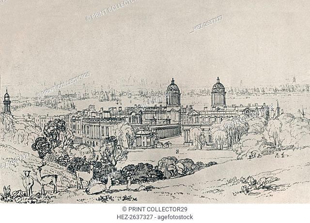 'London from Greenwich Park', c1809, (1923). Artist: JMW Turner