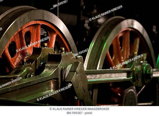 Wheels of a czech steam engine, construction series 475, Czech Republic