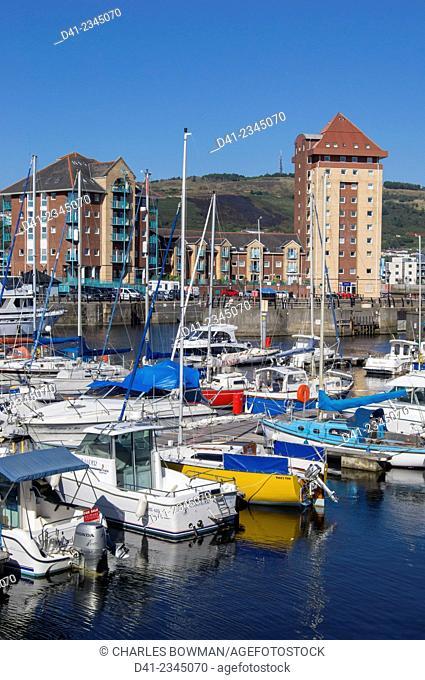 europe, UK, Wales, Swansea marina docks