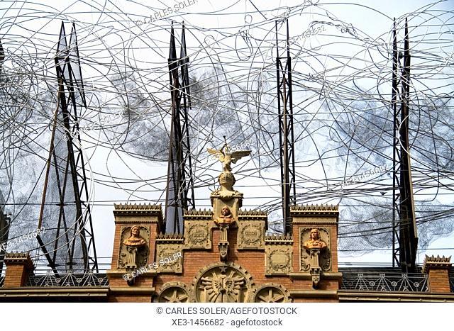 Artistic rooftop in Barcelona, Cataluña, Spain