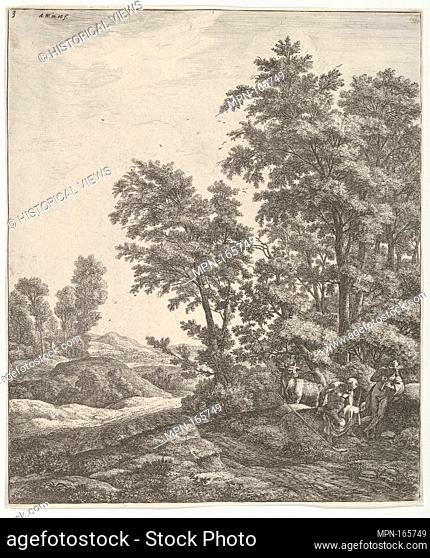 Landscape with Mercury and Argus, from the Series of Six Mythological Scenes. Artist: Anthonie Waterloo (Dutch, Lille 1609-1690 Utrecht); Date: 17th century;...