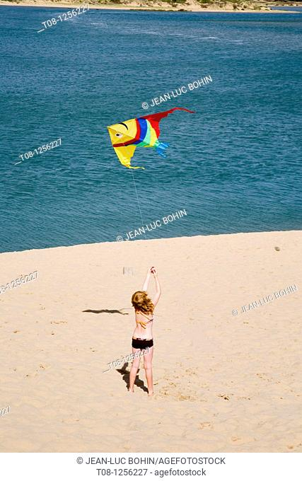 France, 85, Talmont Saint Hilaire: Veillon beach, kite