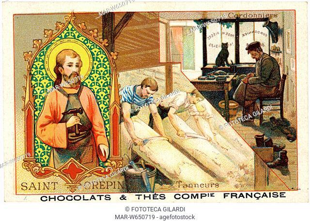 SANTI San Crispino di Soissons (morto 285 circa), martire a Soissons, santo patrono dei calzolai e conciatori di pellame, festa 25 ottobre
