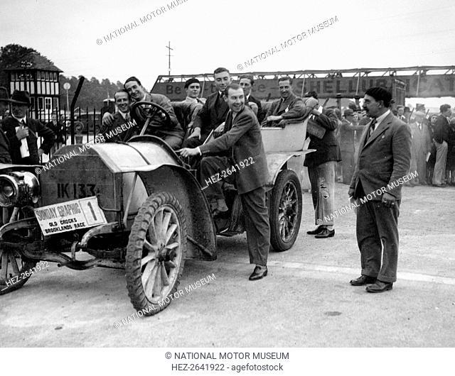 Mercedes, winner of the 1906 Ballinaslaughter Hill Climb, Old Crocks Race, Brooklands, 1931. Artist: Bill Brunell