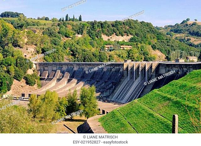 Staumauer - reservoir dam 02